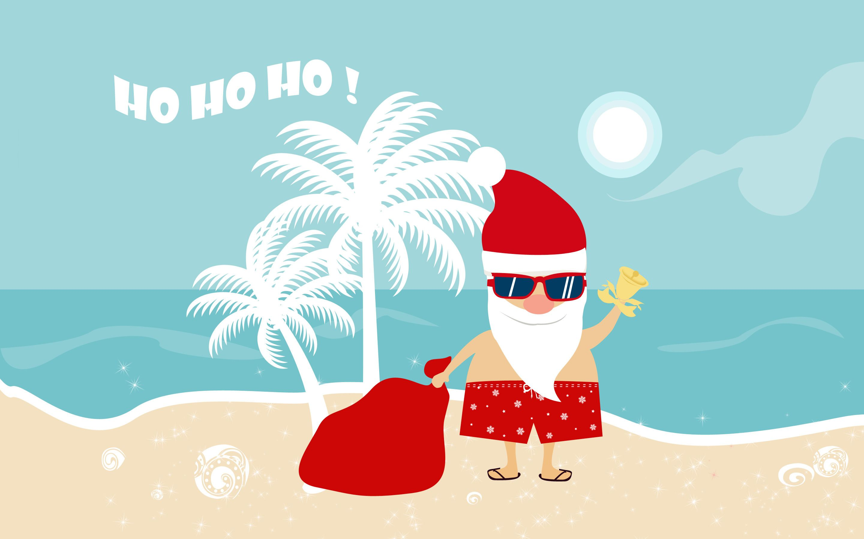 santa claus clipart beach
