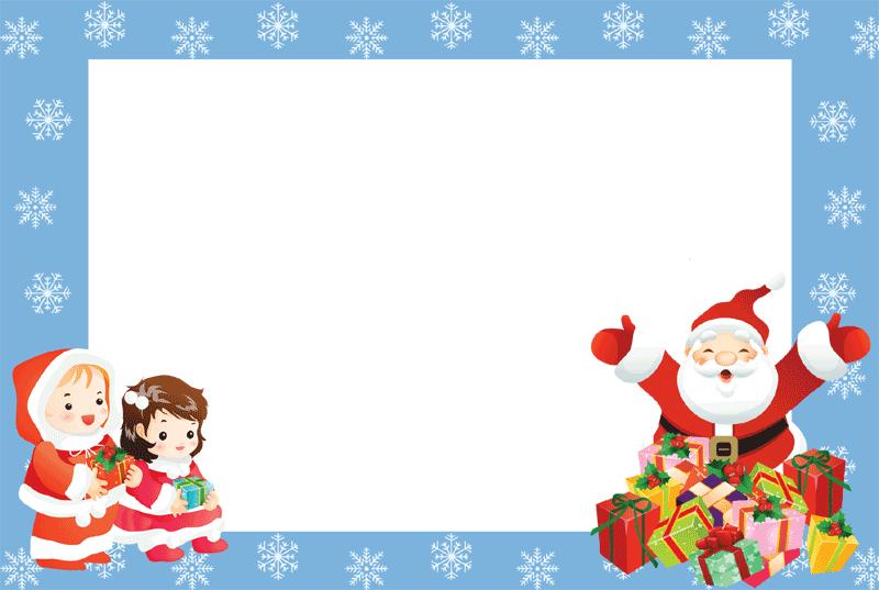 Christmas Card Frame clipart