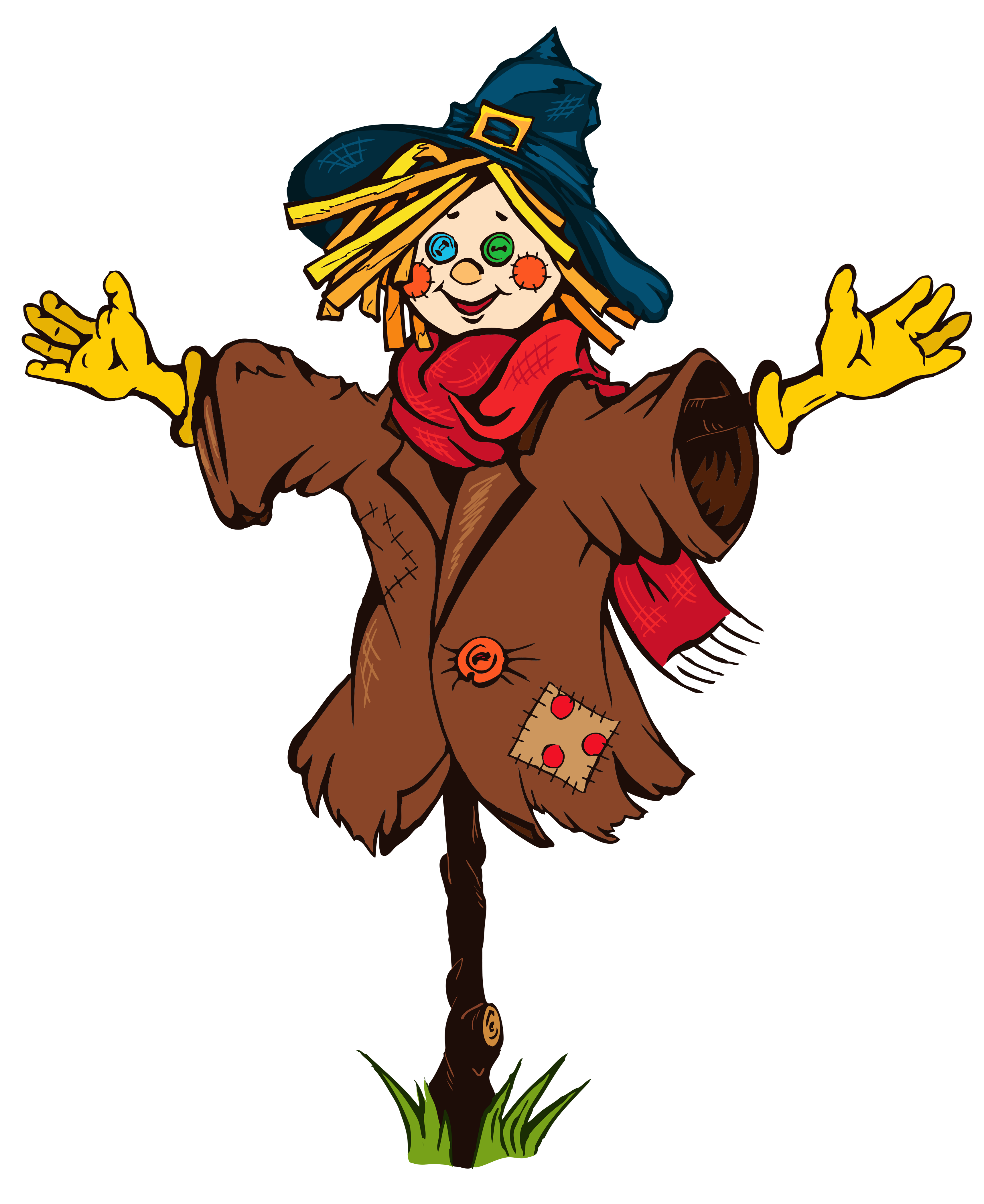 crow clipart scarecrow