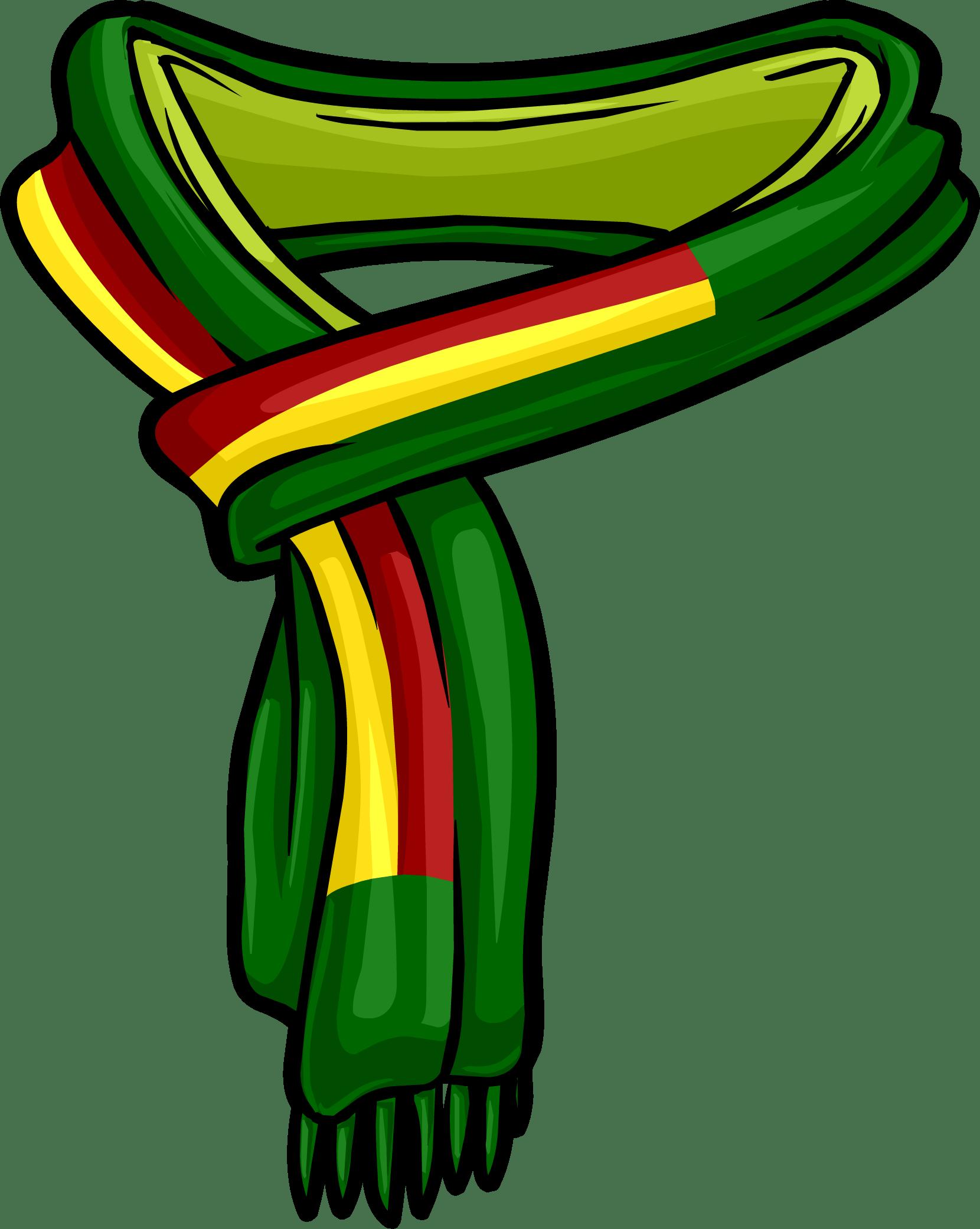 Reggae scarf transparent.