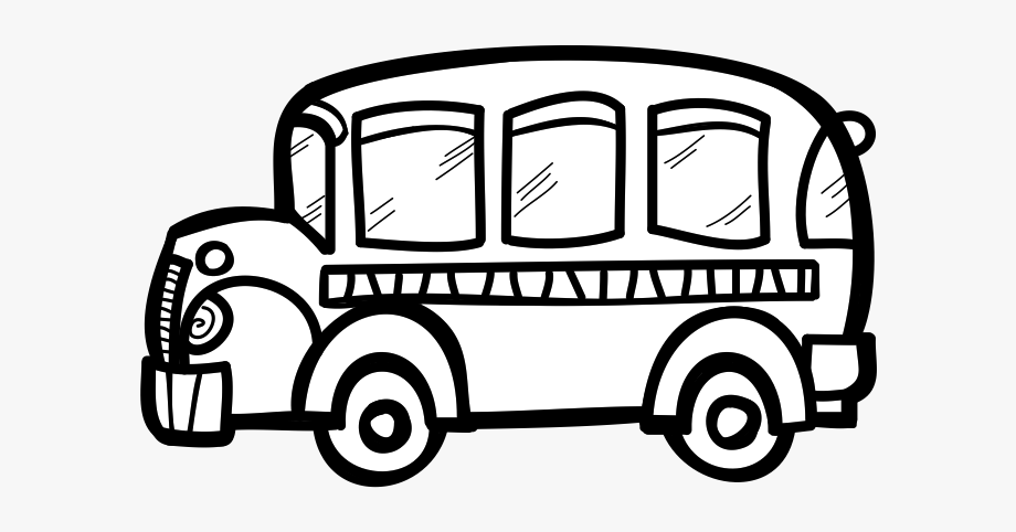 Bus Black And White School Bus Clip Art Black And White