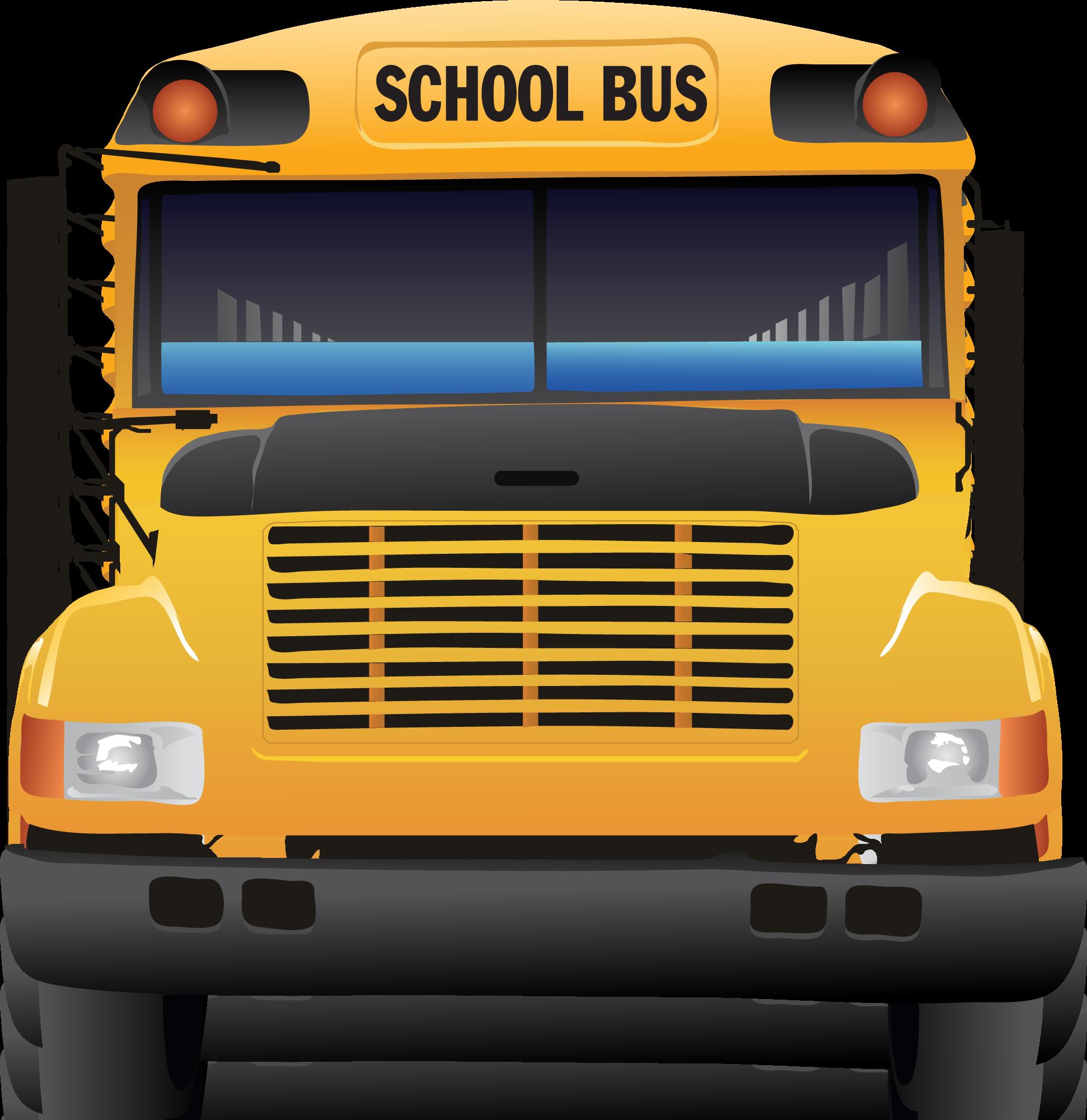 Front school bus.