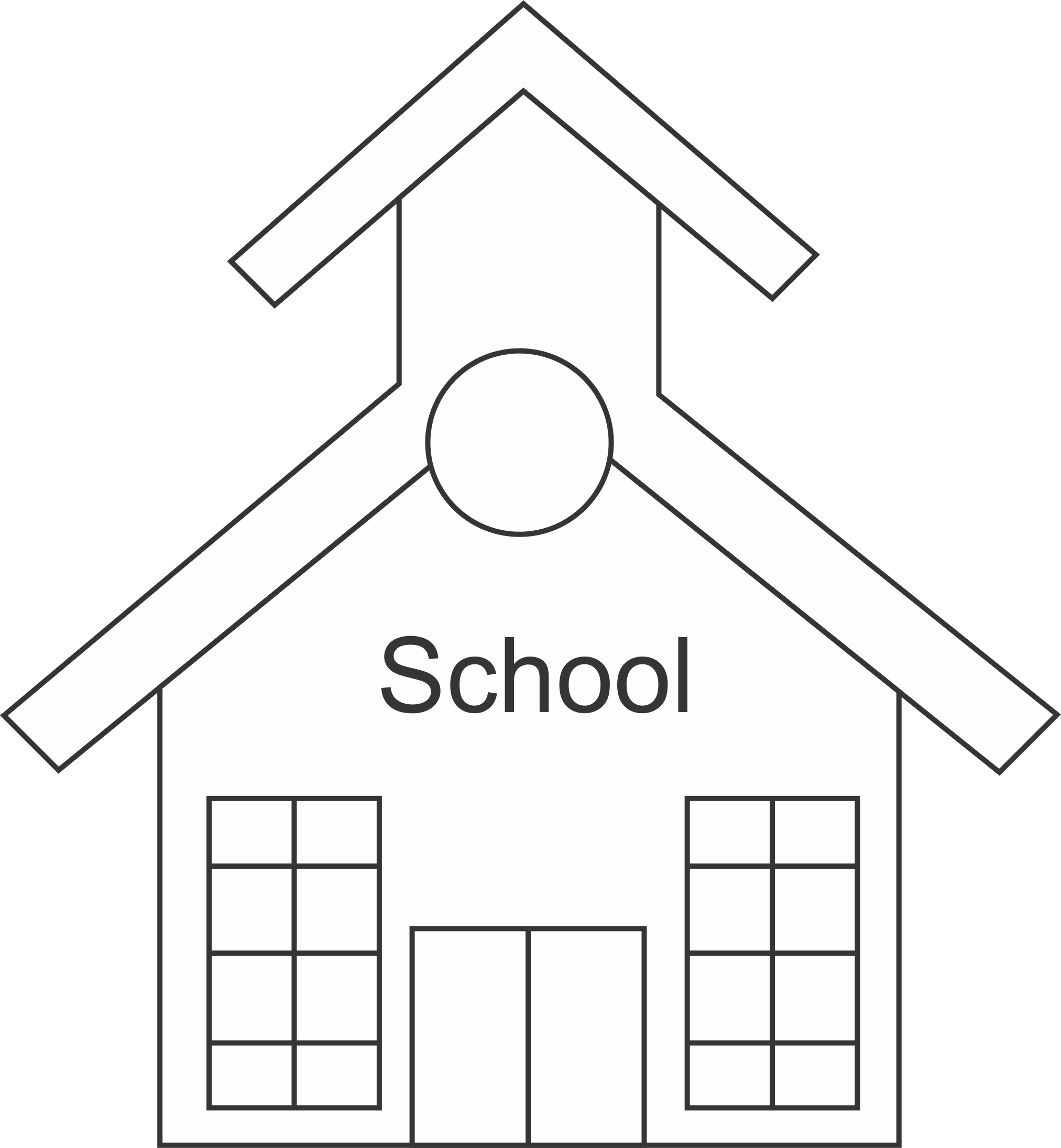 Free School Cliparts Outline, Download Free Clip Art, Free