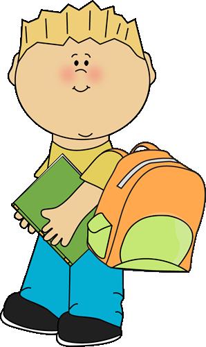 Boy going school.