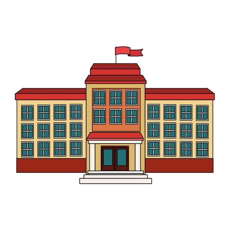 High School Building Cliparts Stock Vector And Royalty Free