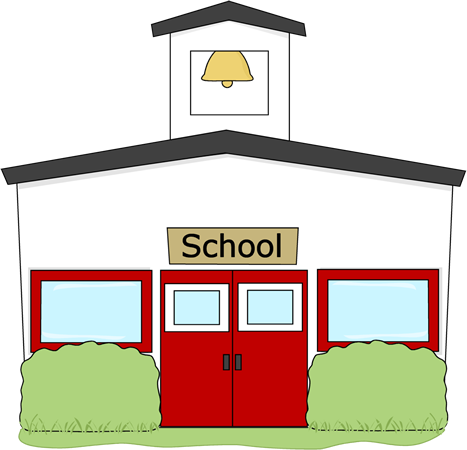 School building clipart.