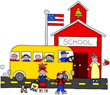 Kindergarten school clipart.