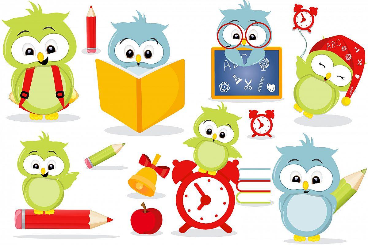 Owls school clipart.