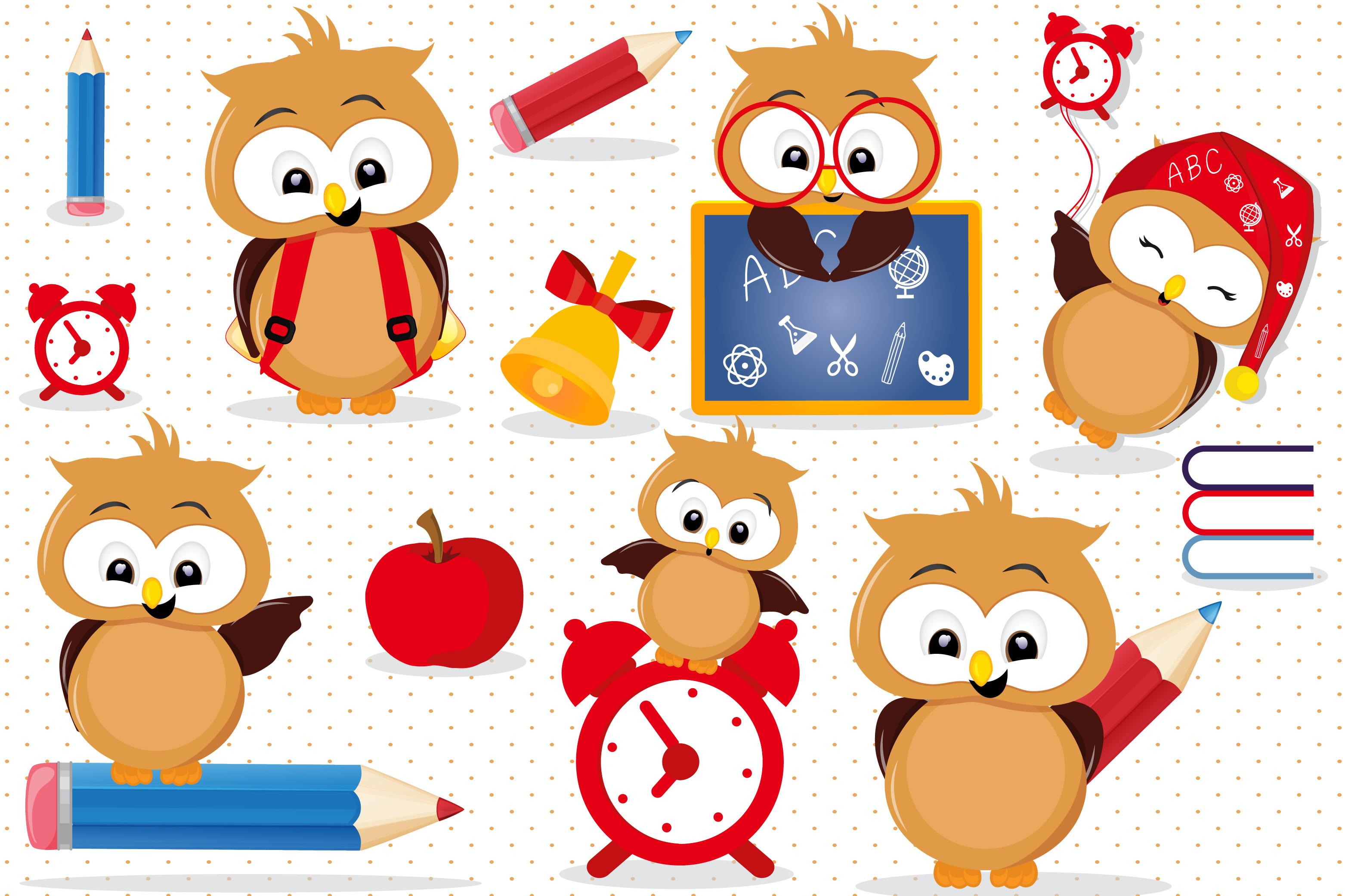 Back school owls.