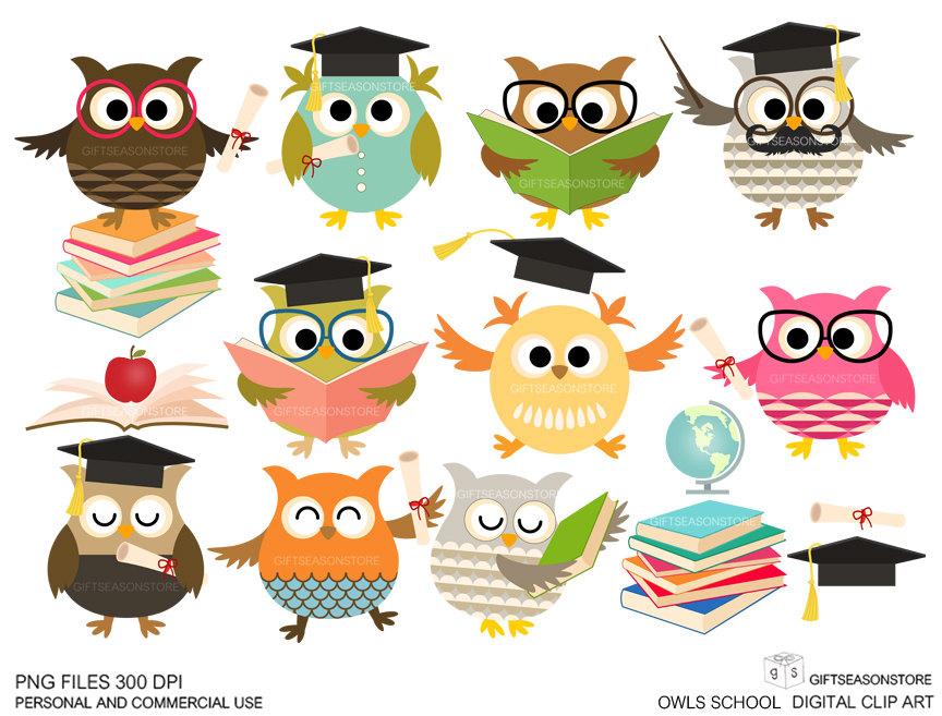 Owl School Clipart