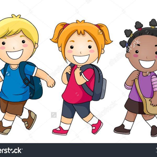 Clipart walk school.