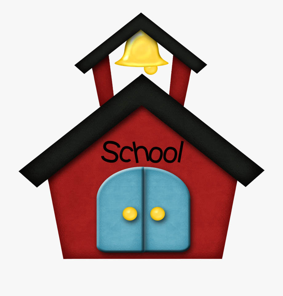 The Little Red School Clipart