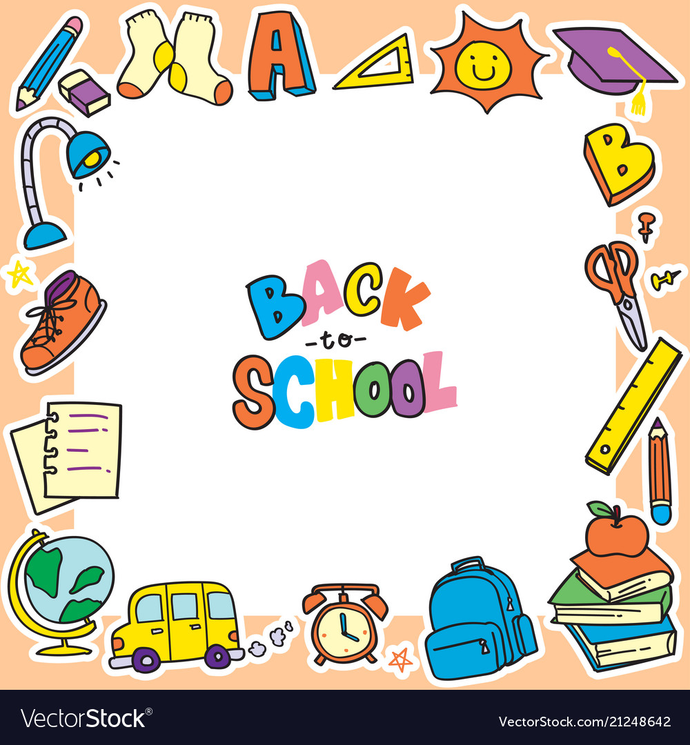 Back school doodle.