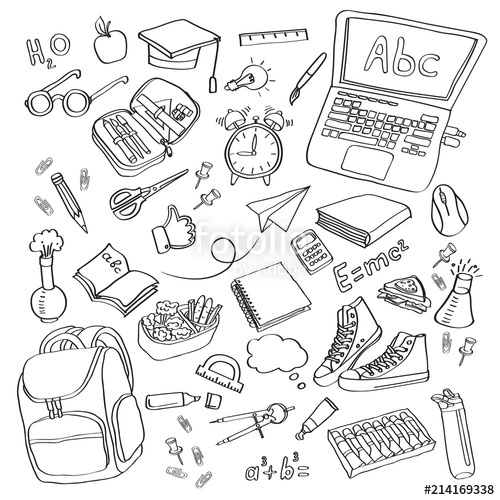 School clipart vector.