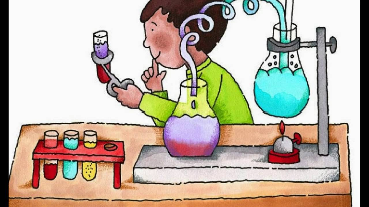 Science experiment clipart.