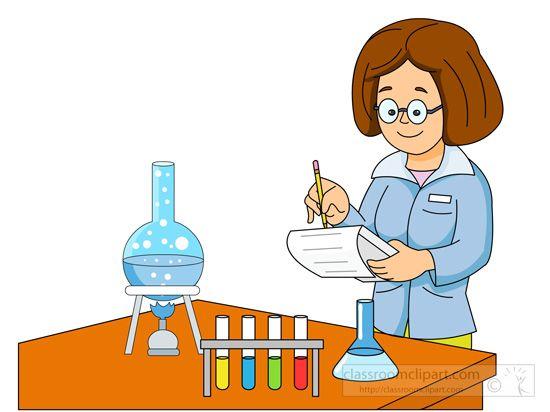 Science ladyscientistperformingexperimentgraduated .