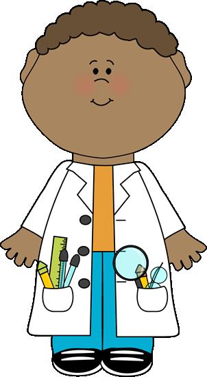 Child scientist clip.