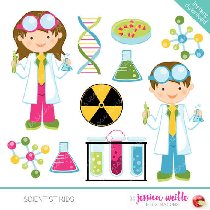 Scientist kids cute.