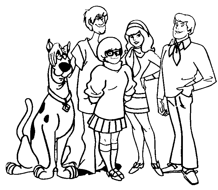 Free Scooby Doo Outline, Download Free Clip Art, Free Clip