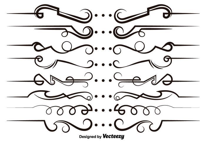 Vector modern scrollwork.