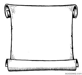Scroll clipart outline.