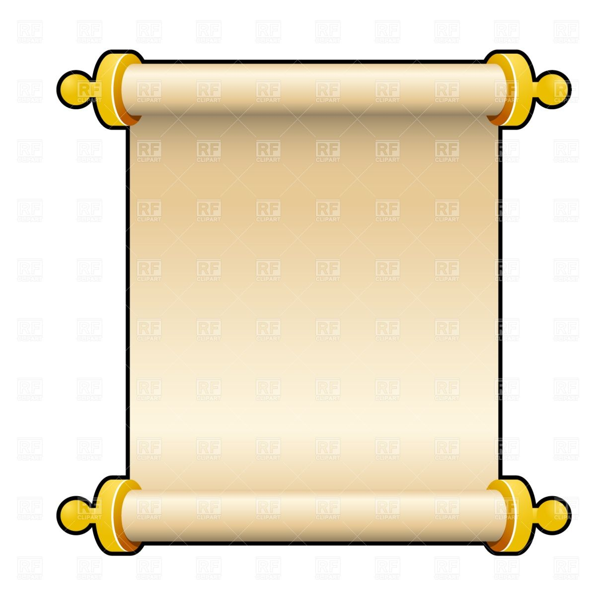 Ancient parchment scroll.
