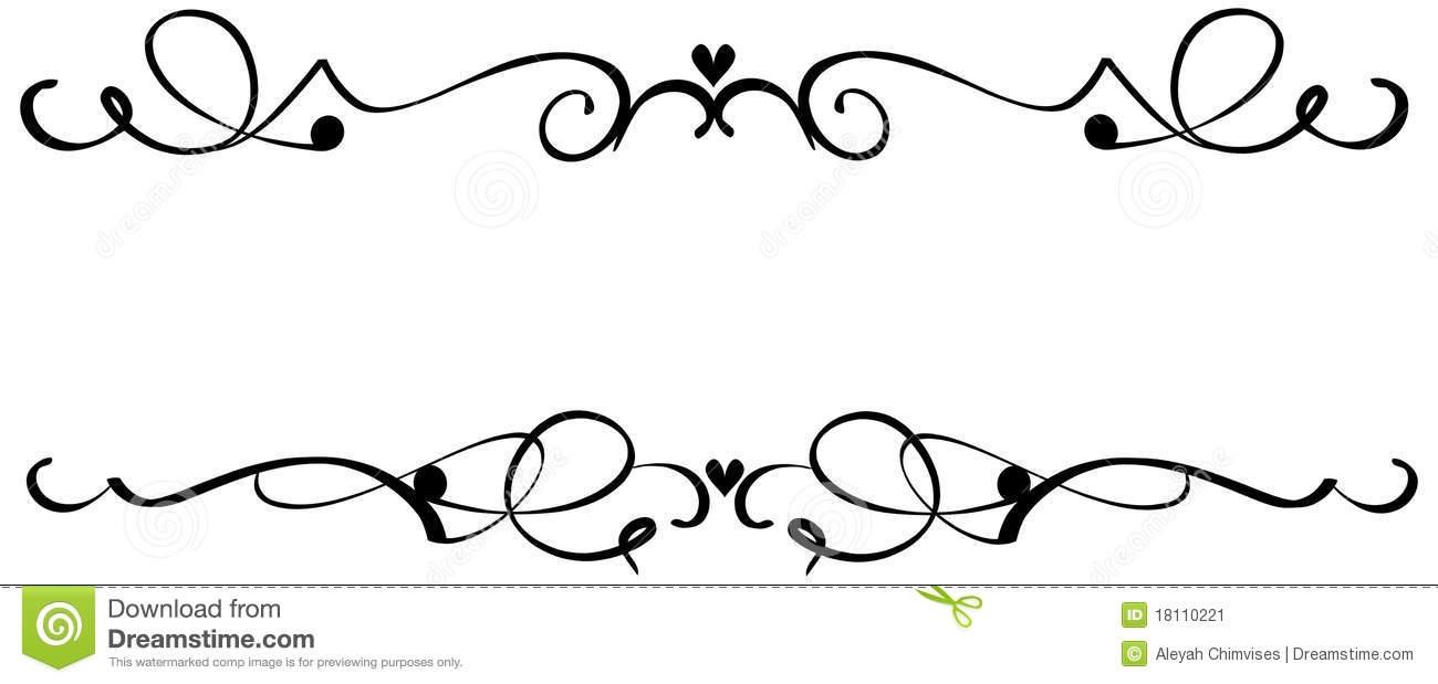 Scroll decoration clip.