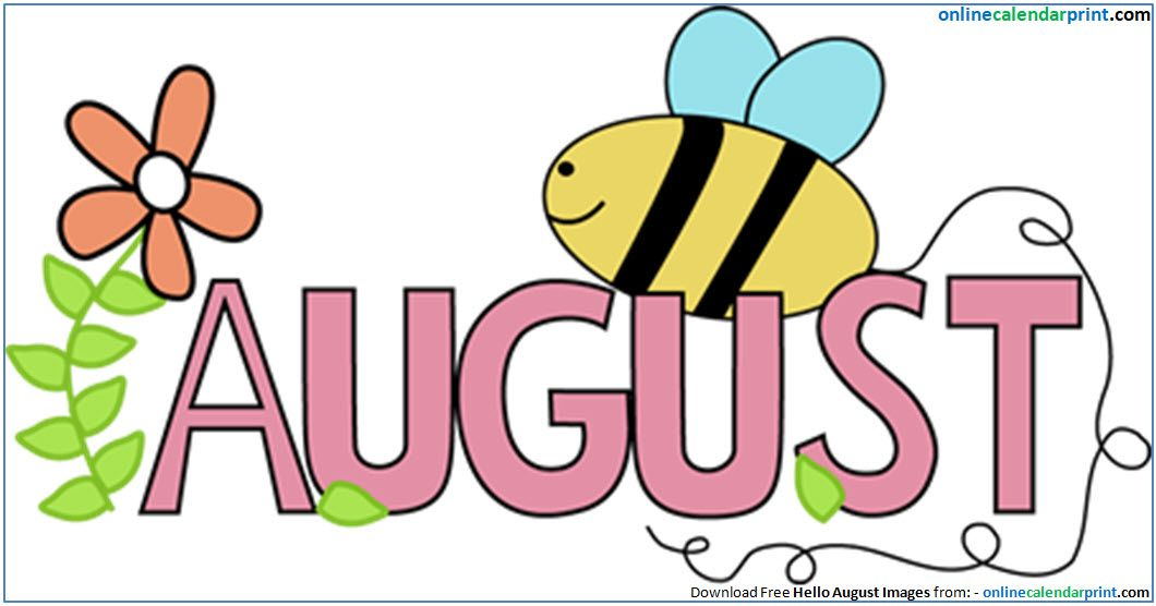 August images clipart.