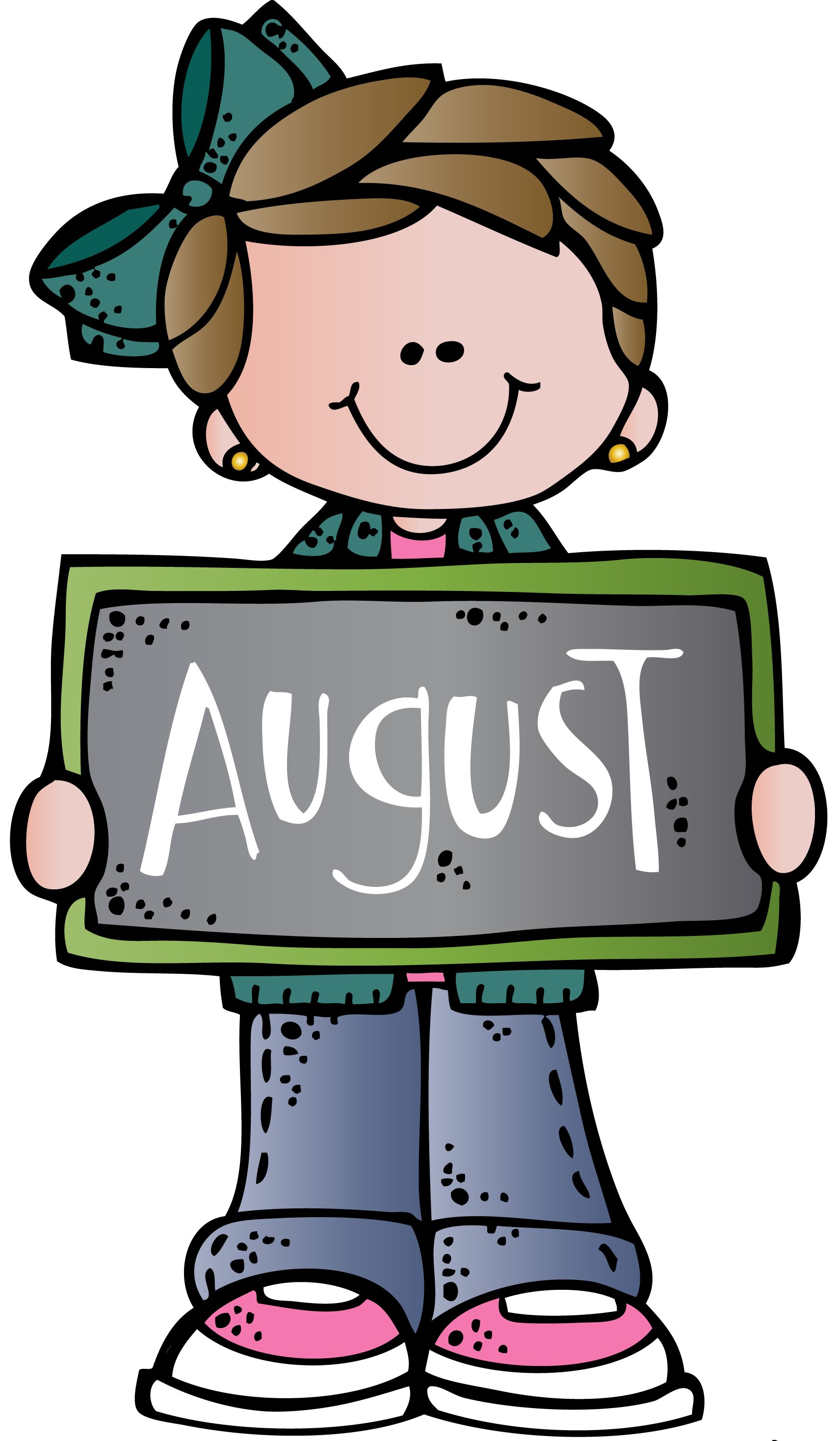 August clipart print.