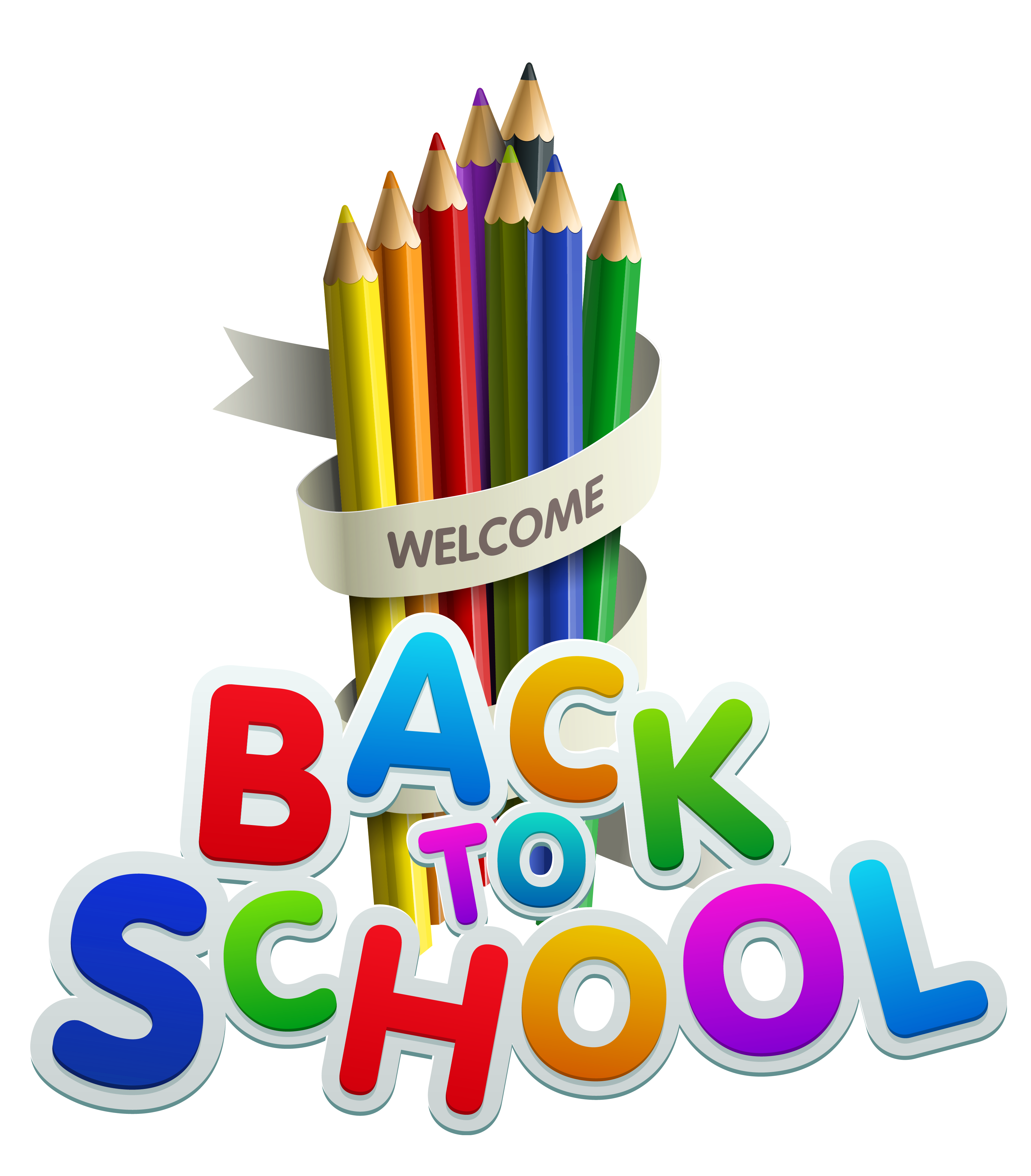 free back to school clipart colorful