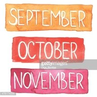 Watercolor months september.