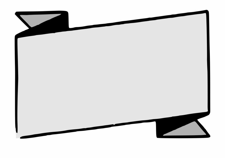 Clipart banner vector black.