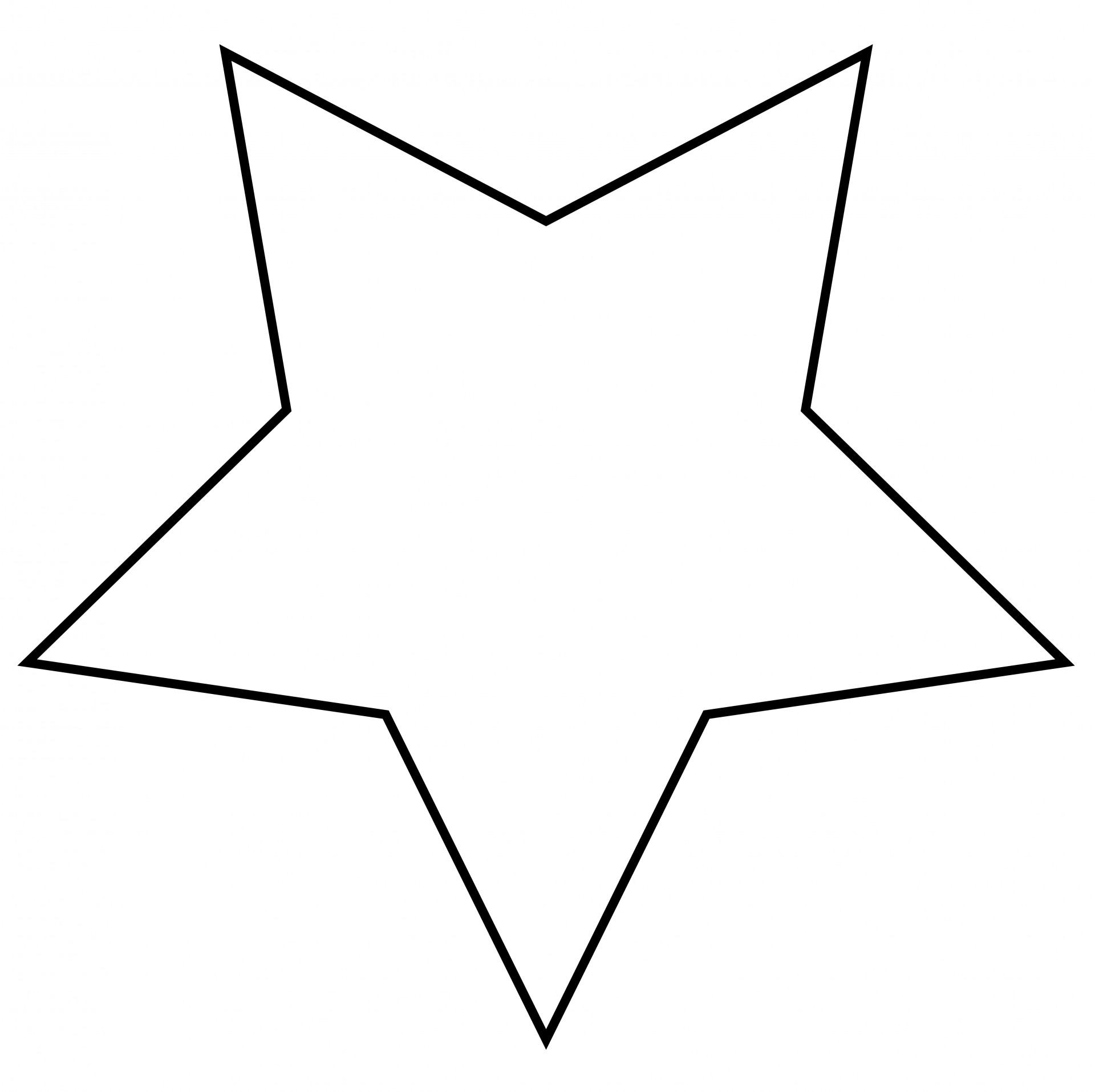 Star outline images.