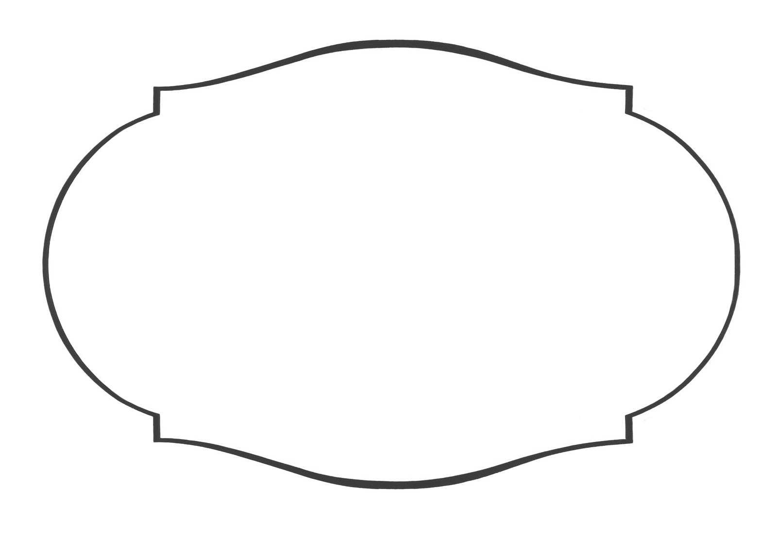 Free label shapes cliparts.