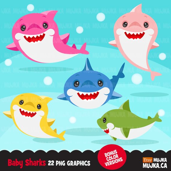 Shark clipart cute.