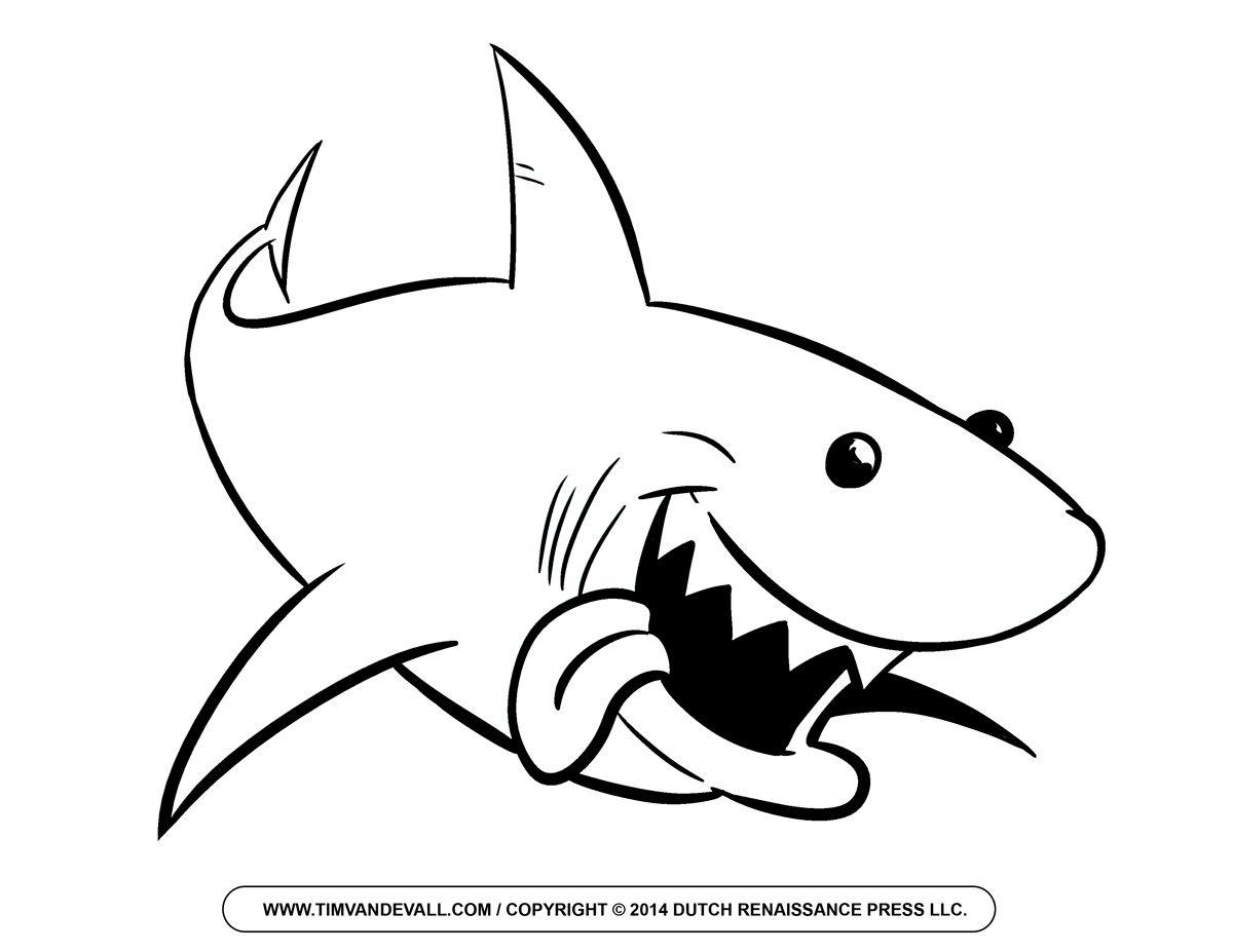Shark outline clip.