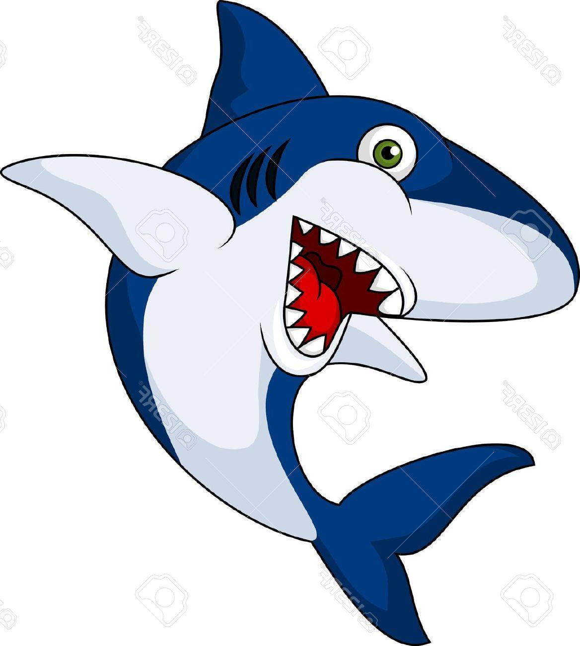 Smiling shark clipart.