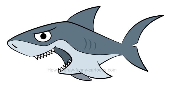 How draw shark.