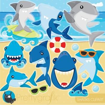 Shark ocean clipart.