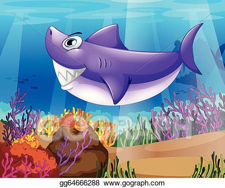 Vector clipart shark.