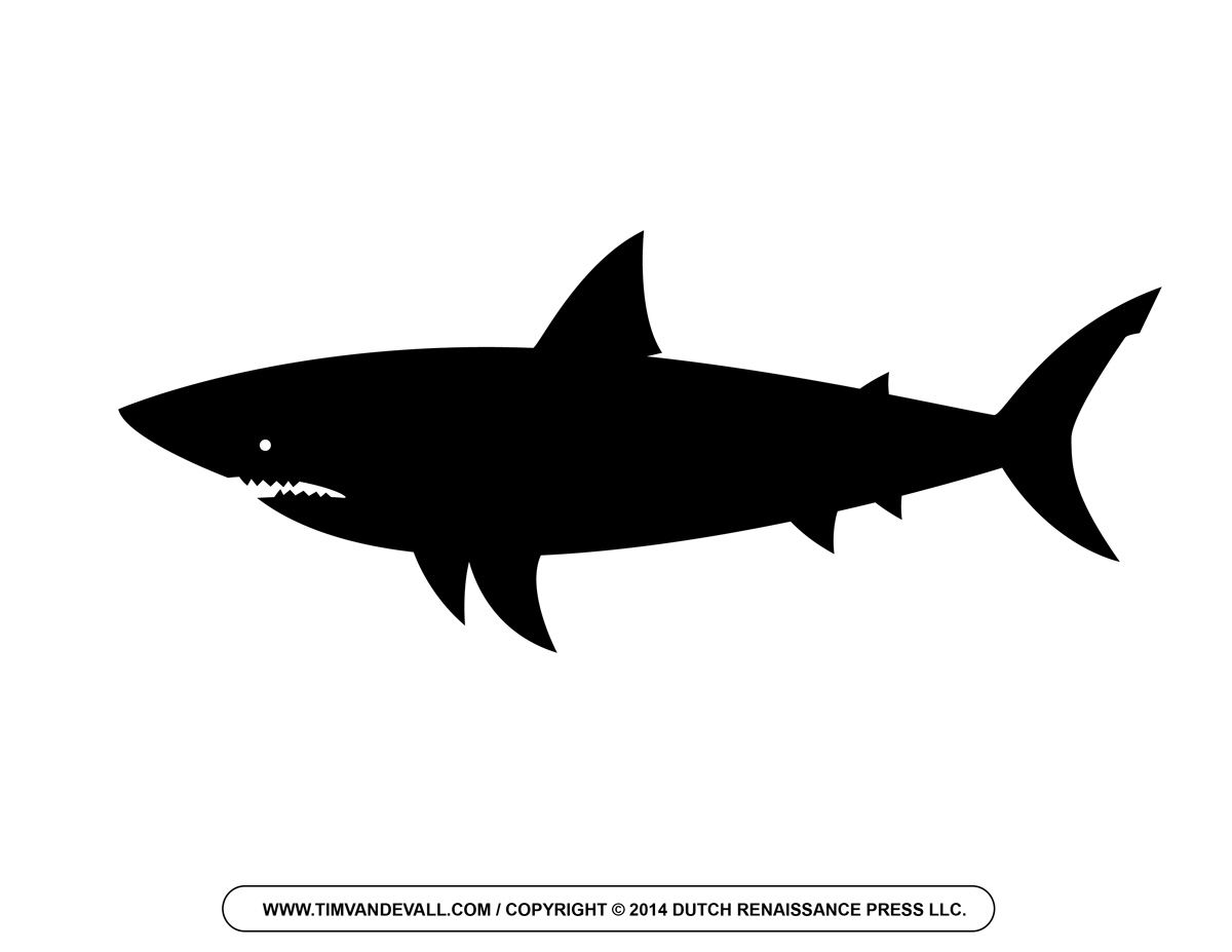 free vector clipart shark no sign up silhouette