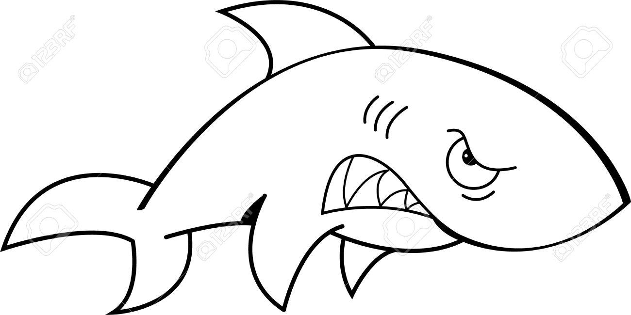 Shark outline free.
