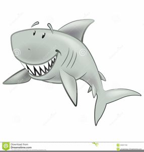 Swimming shark clipart.