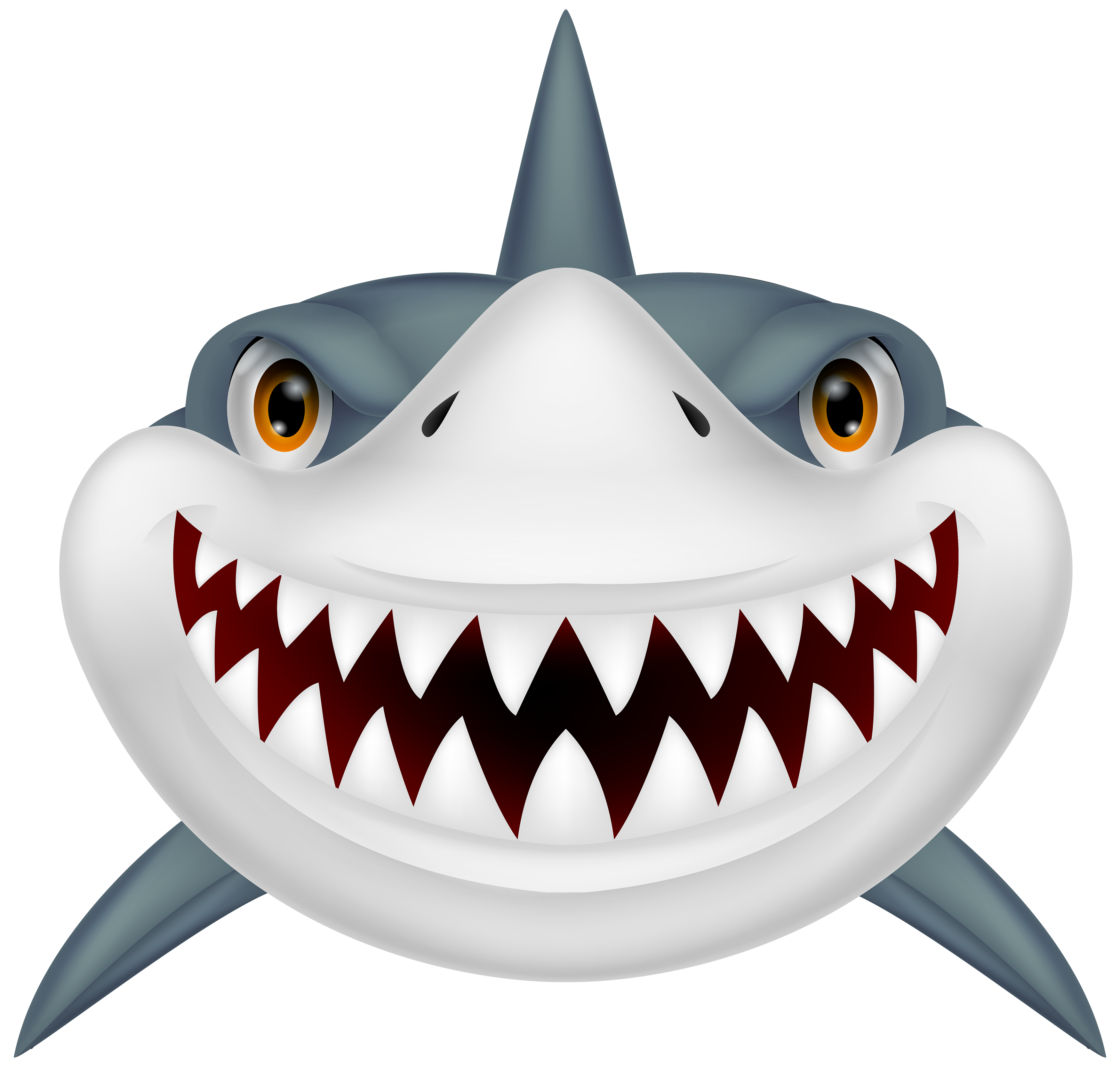 Scary shark png.