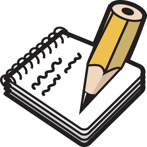 Notepad with pencil