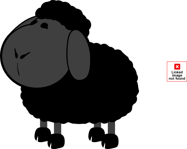 black sheep clipart vector