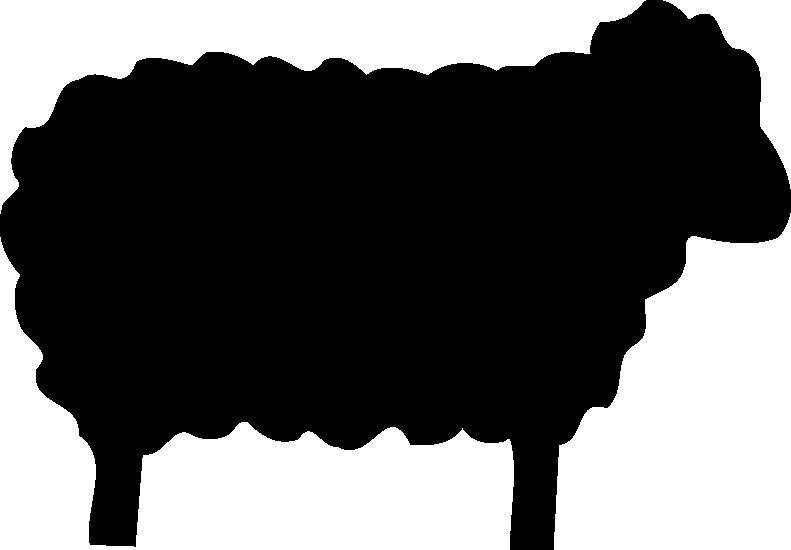 black sheep clipart silhouette