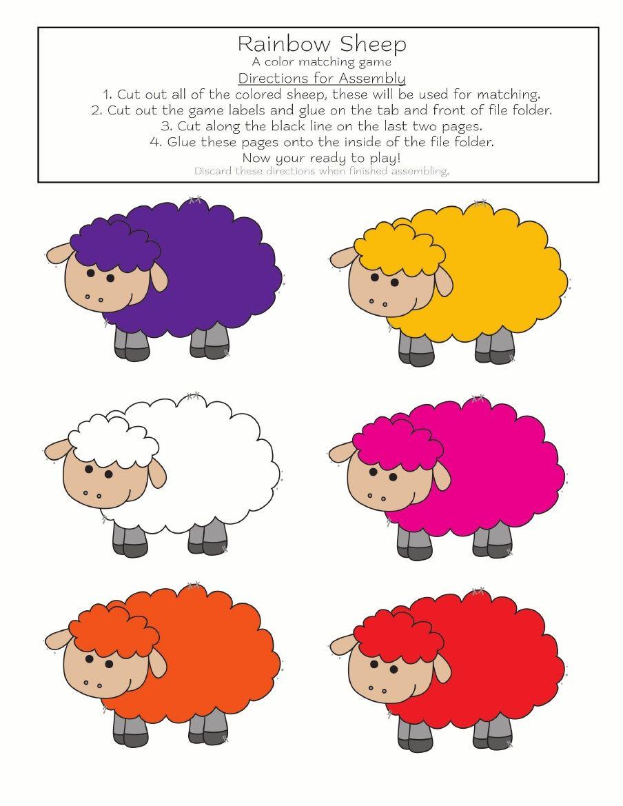 Rainbow sheep color.