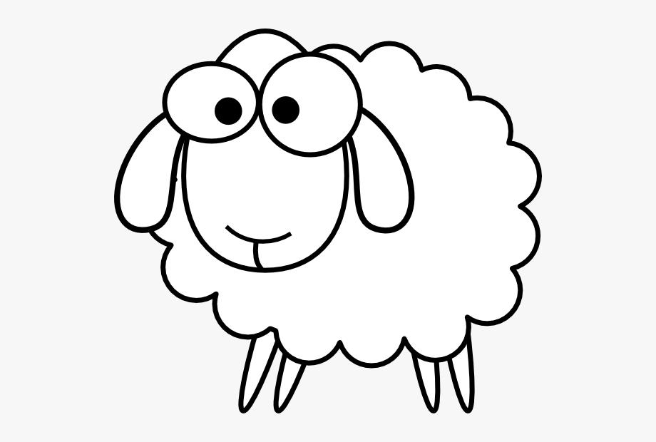 Outline sheep svg.