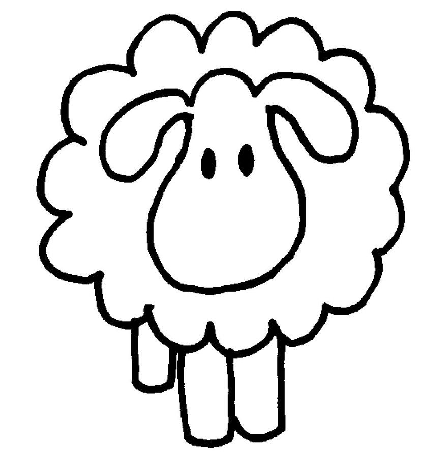 black sheep clipart face